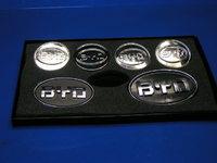 Набор значков BYD  (передний, задний, 4шт на диски, новый стиль) BYD F3 (Бид Ф3), ZNACHOK_BYD